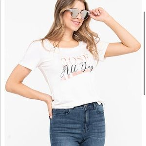 🔥SALE $24🔥Rose' All Day Scoop Neck Tee